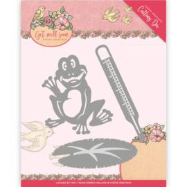Die - Yvonne Creations - Get Well Soon - Get well frog   YCD10103