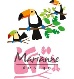COL1457 - Marianne Design Collectable Eline's toucan  10 pcs; 83 x 73 mm