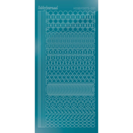 Hobbydots sticker - Mirror - Turquoise  STDM21D