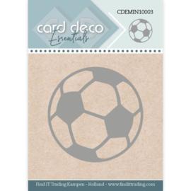 Card Deco Essentials - Mini Dies - Football  CDEMIN10003   Formaat ca. 4,3 x 4,3 cm