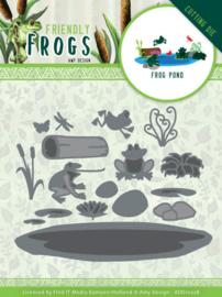 Dies - Amy Design - Friendly Frogs - Frog Pond  ADD10228  Formaat ca. 9,5 x 7,3 cm - 12 x 16 cm