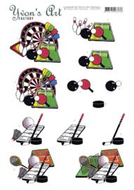 3D Cutting Sheet - Yvon's Art - Sporting  CD11507