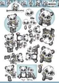 3D Cutting Sheet - Yvonne Creations - Panda Hugs CD11446