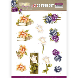 3D Push Out - Precious Marieke - Romantic Roses - Multicolor Rose  SB10518 - HJ19101