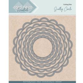 Card Deco Essentials - Nesting Dies - Scallop Circle  CDECD0099  Formaat ca. 12 x 12 cm
