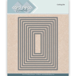Card Deco Essentials Cutting Dies Rectangle CDECD0023  Formaat ca. 9 x 12 cm.