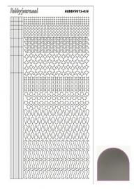 Hobbydots sticker - Mirror - Zilver STDM138