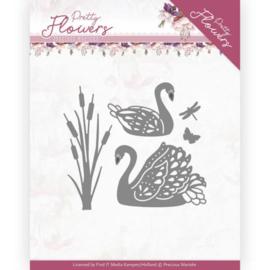 Dies - Precious Marieke - Pretty Flowers - Pretty Swans  PM10192