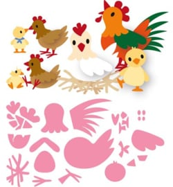 Collectables  Eline's chicken family  COL1429
