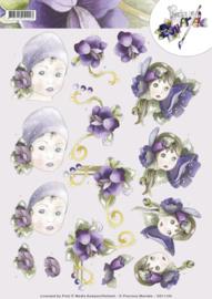 3D Knipvel - Precious Marieke - flower girls  CD11124