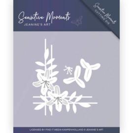 Dies - Jeanine's Art - Sensitive Moments - Lily Corner JAD10099   Formaat ca. 9 x 7,6 cm