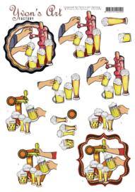 3D Cutting Sheet - Yvon's Art - Beer  CD11694