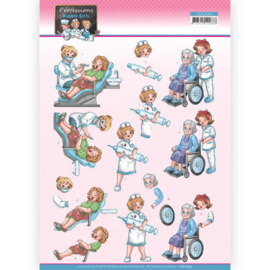 3D Cutting Sheet - Yvonne Creations - Bubbly Girls Professions - Nurse  CD11664