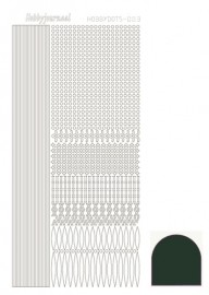 STDM03J Hobbydots sticker - Mirror - Christmas Green