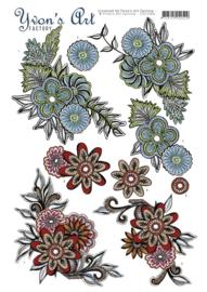 Yvon's Art Factory - Graceful flowers   CD11066
