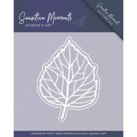Dies - Jeanine's Art - Sensitive Moments - Leaf JAD10100  Formaat ca. 10 x 7,5 cm