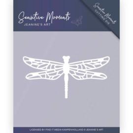 Dies - Jeanine's Art - Sensitive Moments - Dragonfly Omschrijving JAD10101. Formaat ca. 6,5 x 3,2 cm