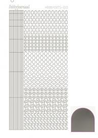 Hobbydots sticker 10 - Mirror - Silver