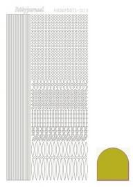 Hobbydots sticker  nr 3 - Mirror - Yellow