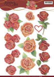 3D Knipvel - Jeanine's Art - Roses   CD11091