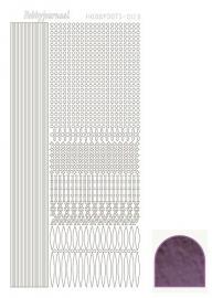 Hobbydots sticker - Mirror - Violet  nr.3