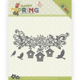 Dies - Precious Marieke - Happy Spring - Happy Birdhouses PM10148  ca. 11,7 x 6,6 cm.