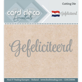 Card Deco Essentials - Cutting Dies - Gefeliciteerd  CDECD0044