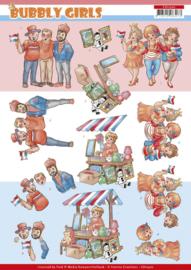3D Cutting Sheet - Bubbly Girls - Kings day  CD11500