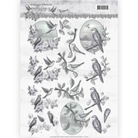 3D knipvel - Amy Design - Words of Sympathy - Sympathy Swallows   CD11180