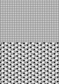 NEVA016 background sheets A4 black hearts