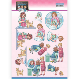 3D Cutting Sheet - Yvonne Creations - Bubbly Girls Professions - Beautician  CD11665