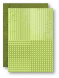 NEVA029 Doublesided background sheets A4 green stripes