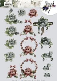 3D cutting sheet - Precious Marieke - All kinds of roses  CD11450