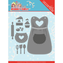 Dies - Yvonne Creations - Bubbly Girls Party Apron YCD10201 Formaat ca. 12,9 x 11,6 cm