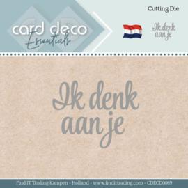 Card Deco Essentials - Dies - Ik denk aan je  CDECD0069