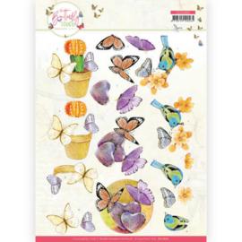 3D Cutting Sheet - Jeanine's Art - Butterfly Touch - Orange Butterfly CD11660