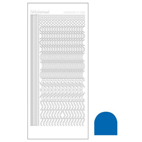 Hobbydots sticker 20 - Mirror Blue