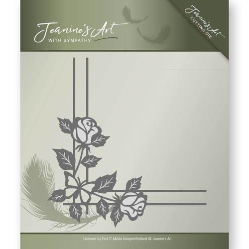 Die - Jeanine's Art - With Sympathy - Rose Corner   JAD10014