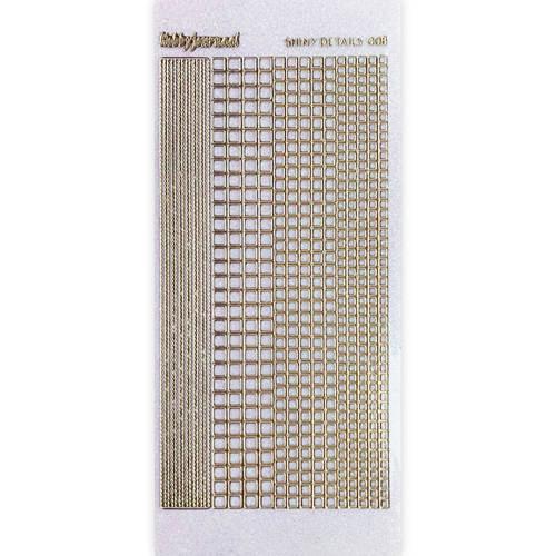 Shiny Details- Square- Goud  SDS008TG