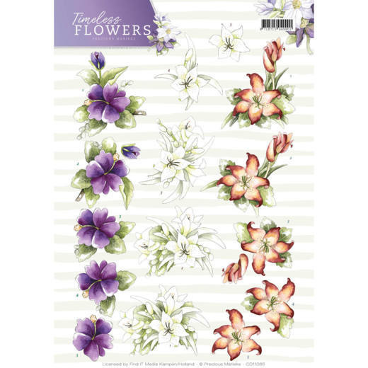3D Knipvel - Precious Marieke - Timeless Flowers - Lillies   CD11085