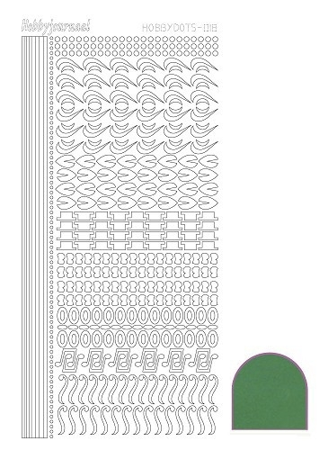 STDM182 Hobbydots sticker - Mirror Green