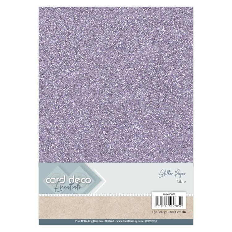 Card Deco Essentials Glitter Paper Lilac 1x  CDEGP018