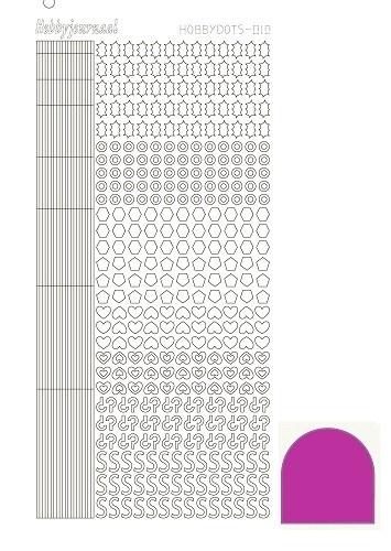 Hobbydots sticker - Mirror Pink 10