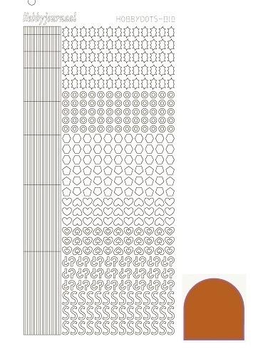 Hobbydots sticker 10 - Mirror - Copper