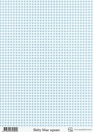 achtergrondvel Marjoleine blauwe ruit Baby blue square