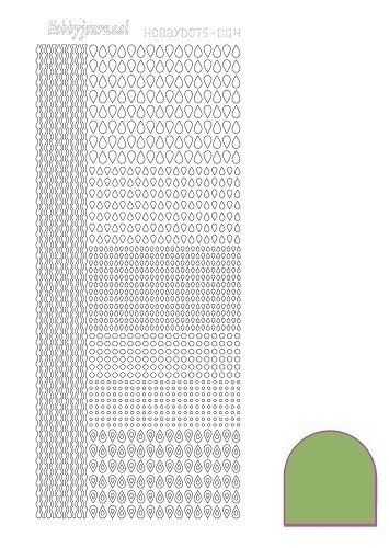Hobbydots sticker nr 4 - Mirror - Lime