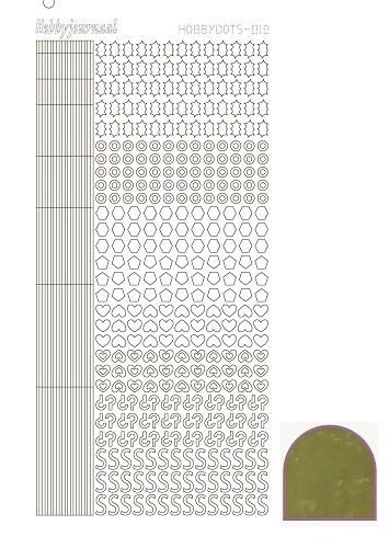 Hobbydots sticker 10 - Mirror - Gold