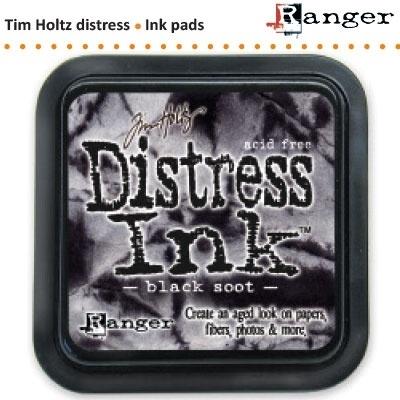 Tim Holtz distress ink pad black soot 19541