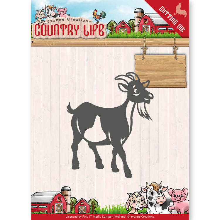 Dies - Yvonne Creations - Country Life Goat  YCD10131