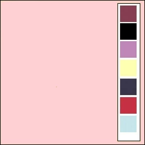 Linnenkarton - Vierkant - Lichtroze  15